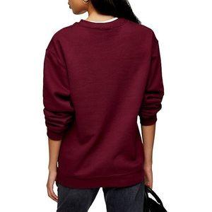 topshop everyday burgundy crewneck sweatshirt
